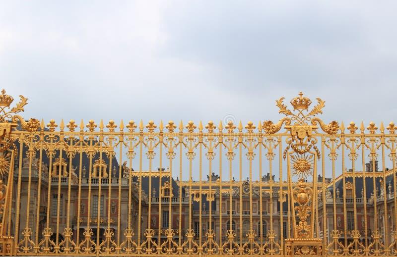 Gouden Omheining bij het Paleis van Versailles royalty-vrije stock foto