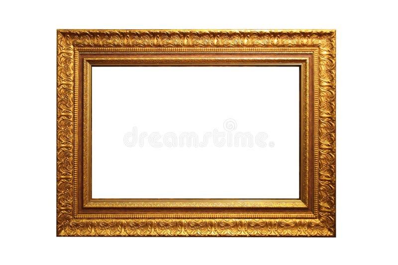 Gouden omlijsting stock afbeelding