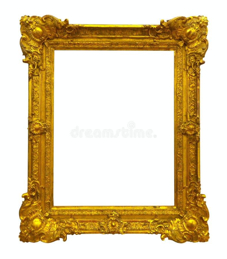 Gouden omlijstingweg royalty-vrije stock afbeelding