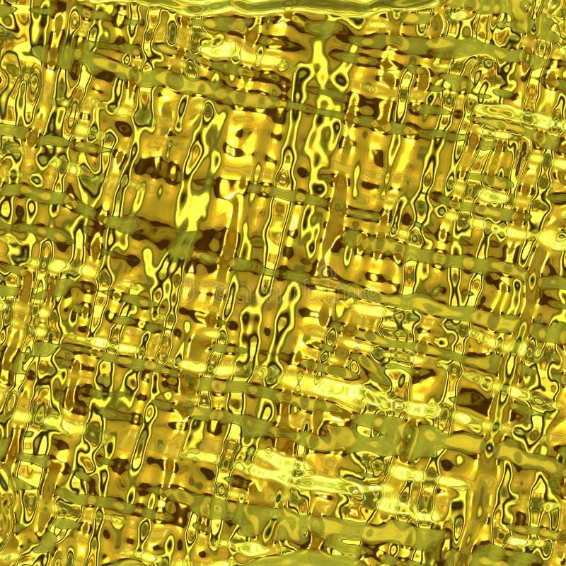 Gouden oppervlaktetextuur stock illustratie