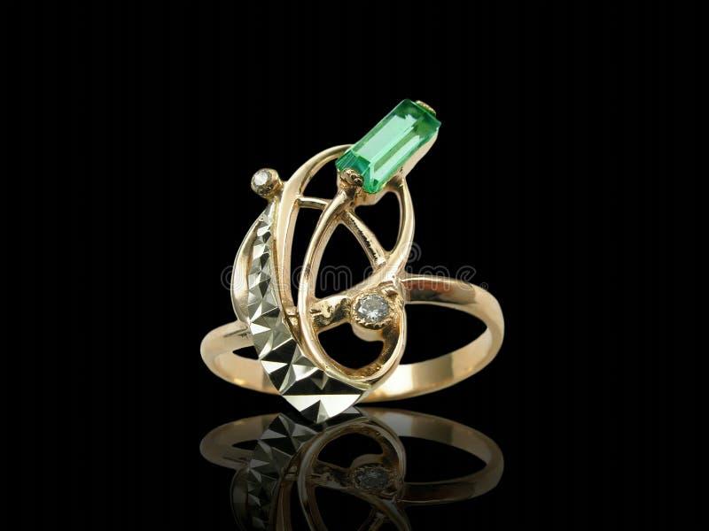 Gouden originele ring stock foto