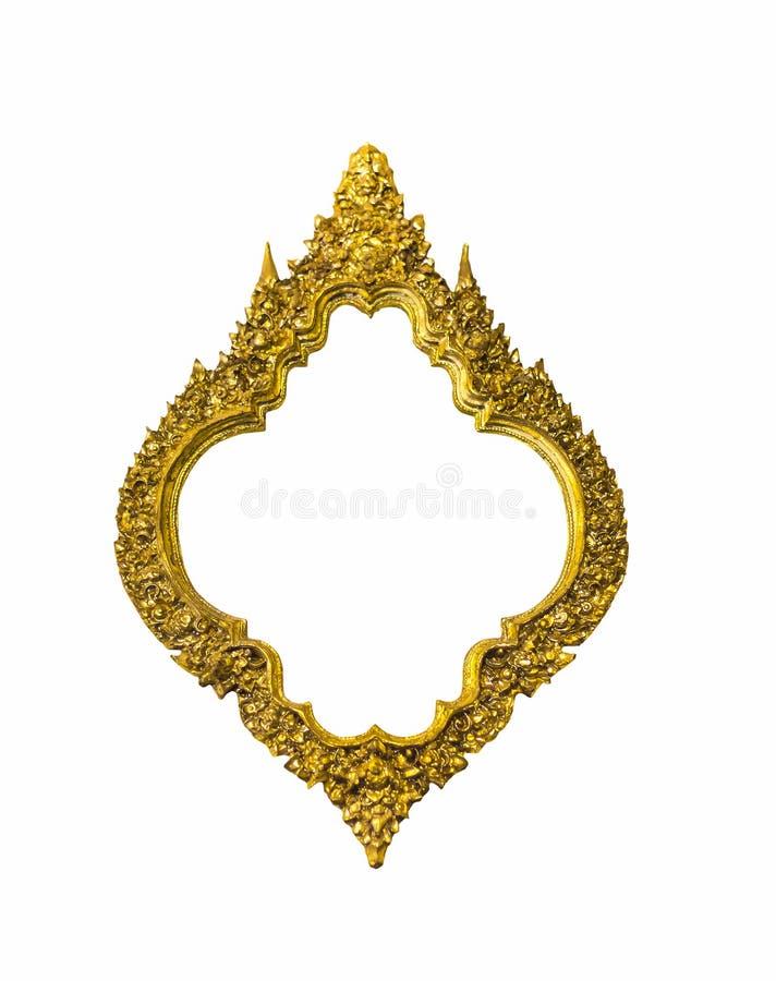 Gouden ovaal klassiek kader stock afbeelding