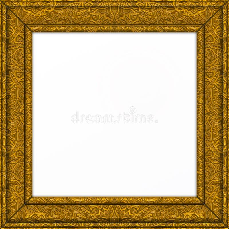gouden overladen Omlijsting royalty-vrije stock afbeelding