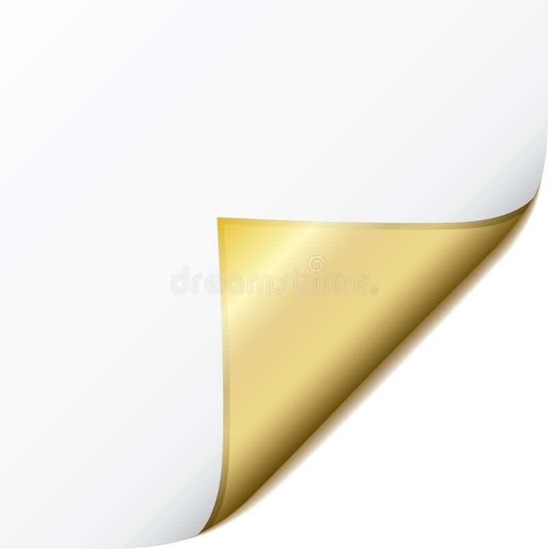 Gouden paginakrul vector illustratie