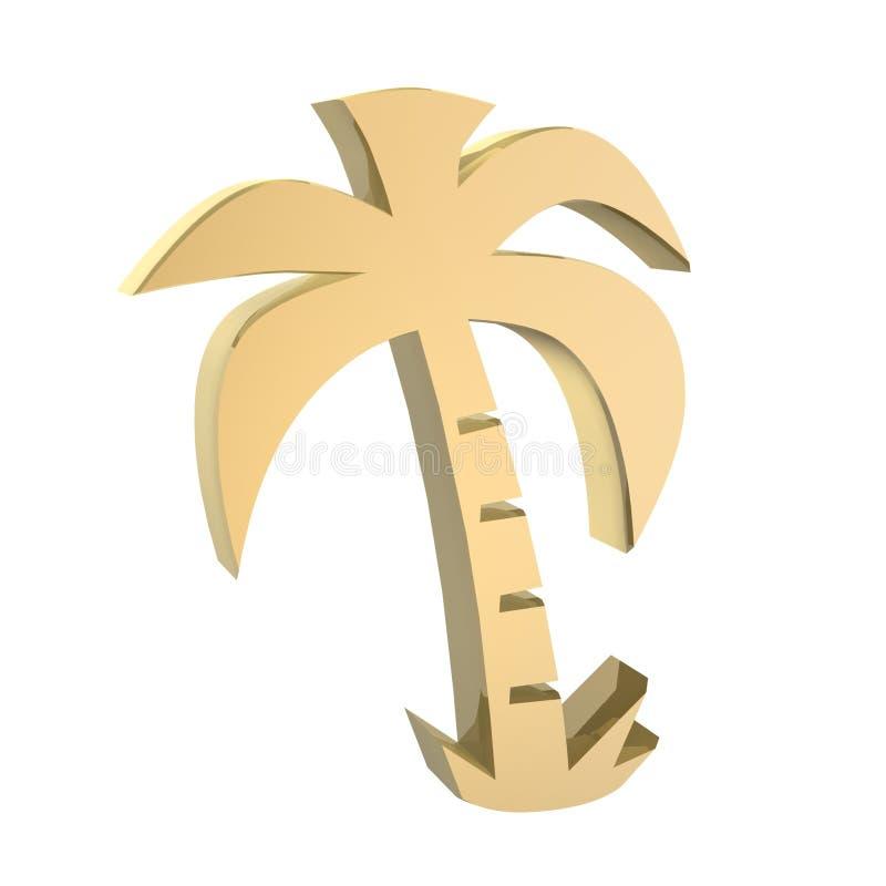 Gouden palm stock illustratie