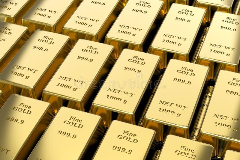 Gouden passement, goudstaven stock illustratie