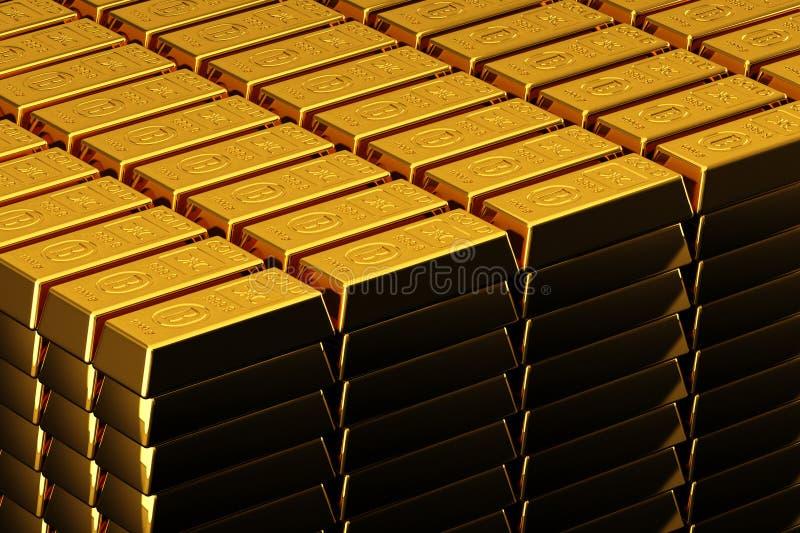 Gouden passementen vector illustratie