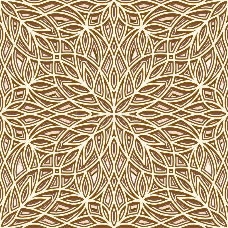Gouden patroon vector illustratie