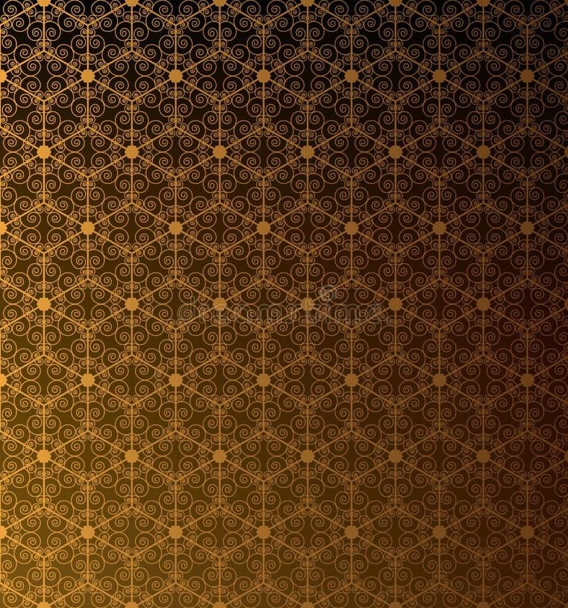 Gouden patroon voor achtergrond vector illustratie