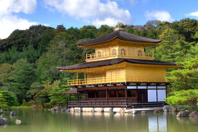 Gouden Paviljoen Kinkaku -kinkaku-ji royalty-vrije stock fotografie