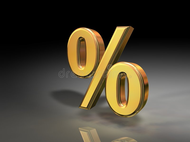 Gouden Percentage vector illustratie