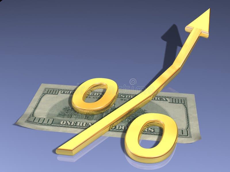 Gouden percenten royalty-vrije stock afbeeldingen
