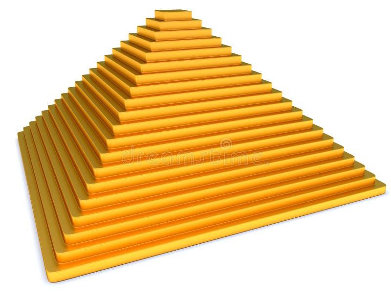 Gouden piramide stock illustratie