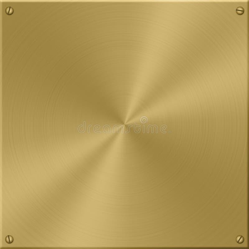 Gouden Plaat stock illustratie