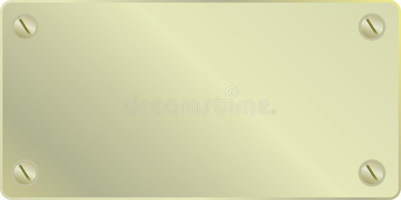 Gouden plaat royalty-vrije illustratie
