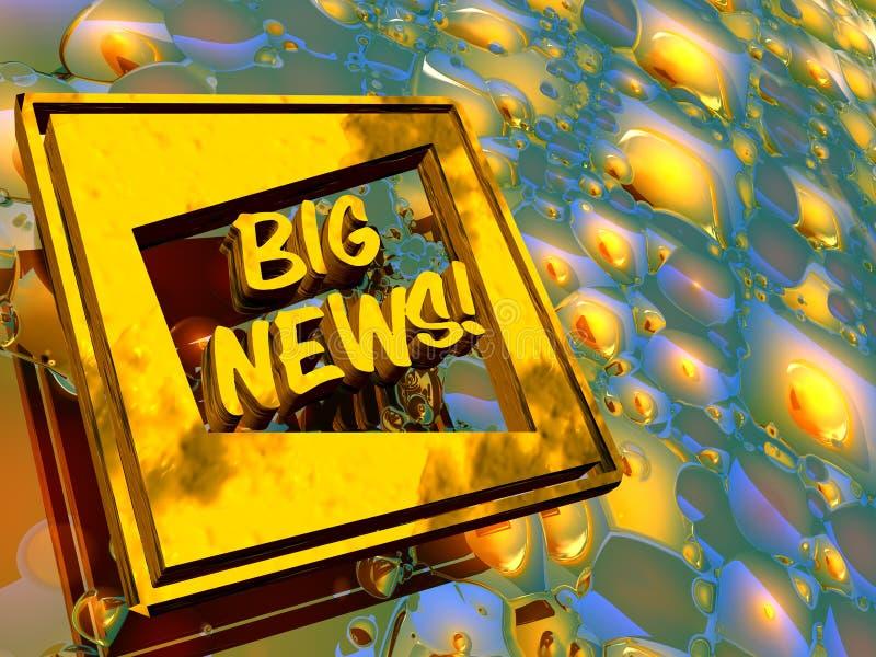 Gouden plaat, groot nieuws. stock illustratie