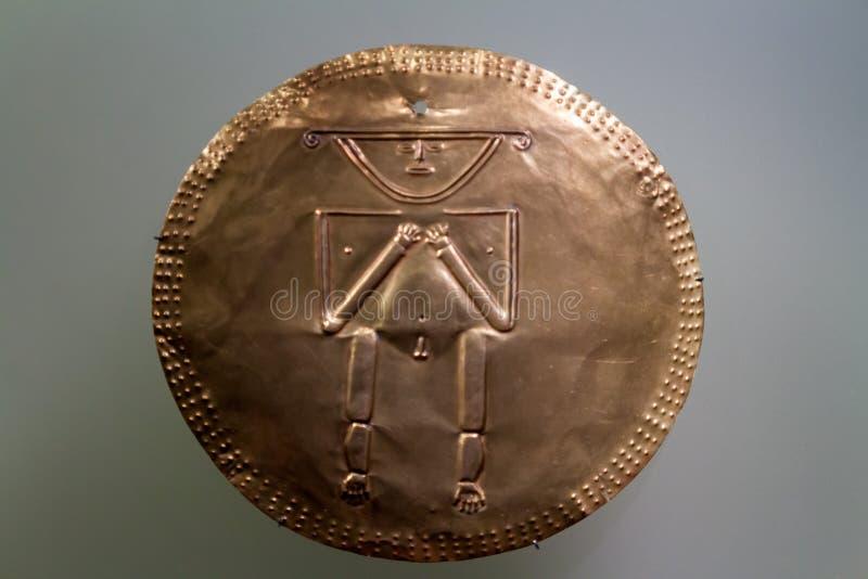 Gouden plaat in het Museum van Goud royalty-vrije stock foto