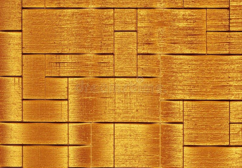 Gouden-Platted het betegelen stock fotografie