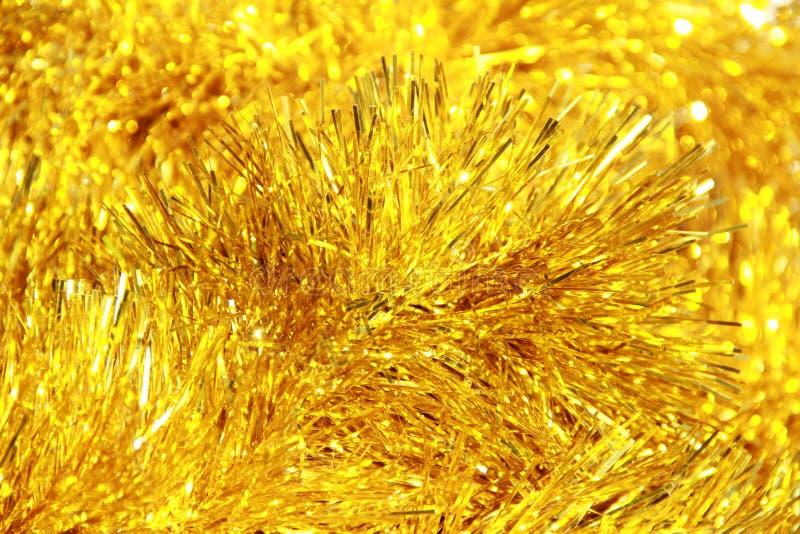 Gouden pluizige decoratie stock fotografie