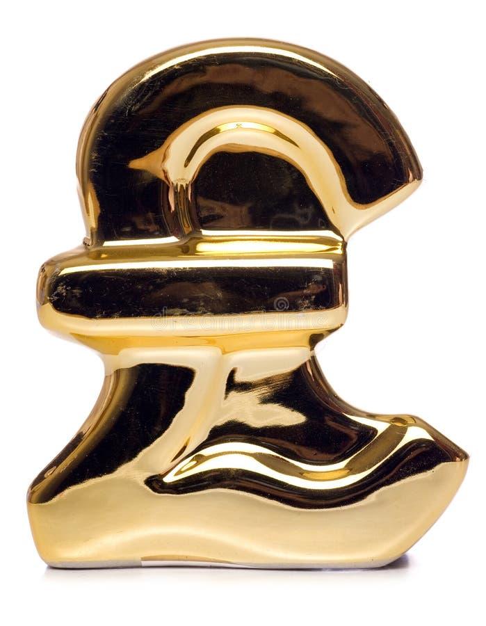 Download Gouden pond Sterlingteken stock foto. Afbeelding bestaande uit achtergrond - 29506756