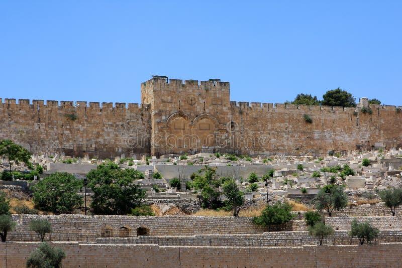 Gouden poort, Jeruzalem stock afbeelding