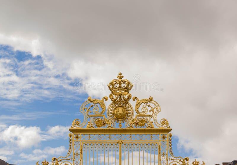 Gouden poort van het Paleis van Versailles royalty-vrije stock foto