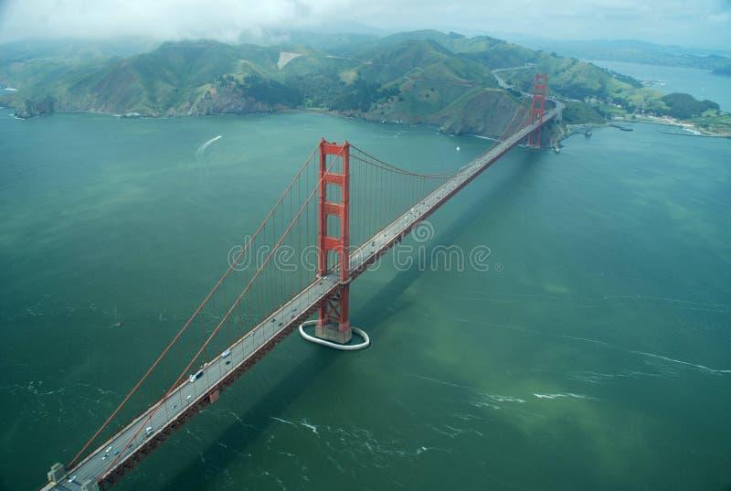 Gouden poortbrug stock afbeelding