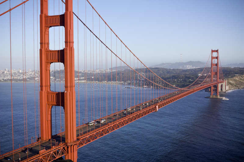 Gouden poortbrug royalty-vrije stock foto's