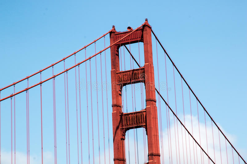 Gouden poortbrug in San Francisco royalty-vrije stock afbeelding