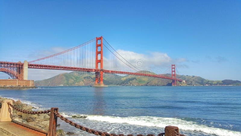 Gouden poortbrug in San Francisco stock afbeelding