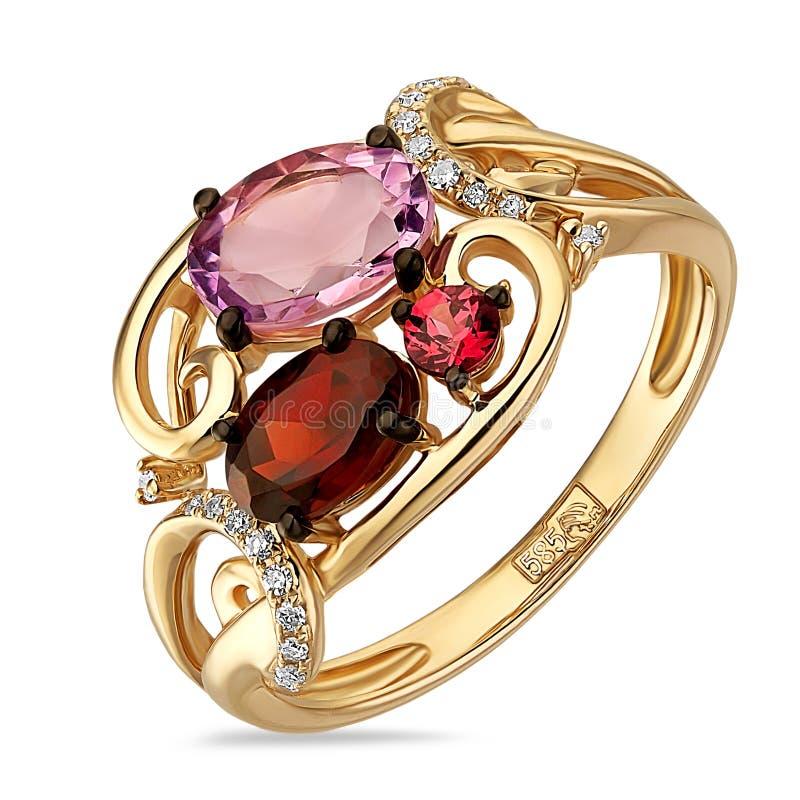 Gouden ring royalty-vrije illustratie