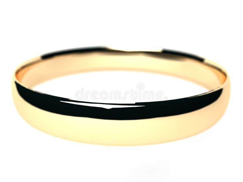 Gouden ring die op wit wordt geïsoleerd. stock afbeeldingen