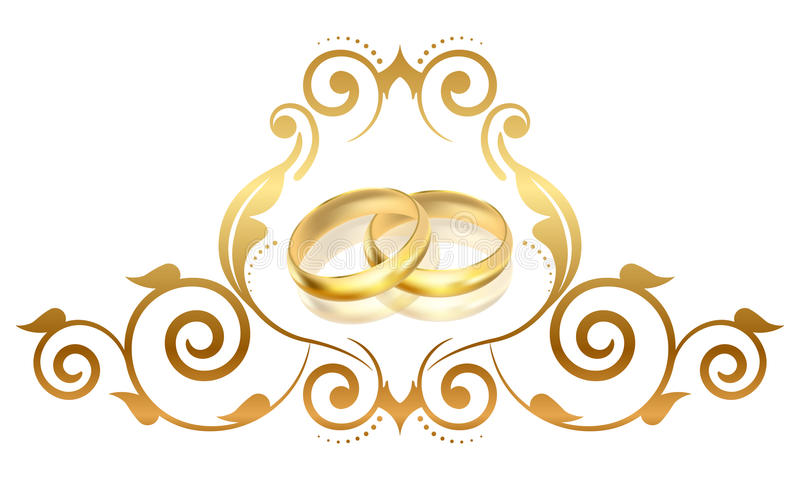 Gouden ringen vector illustratie