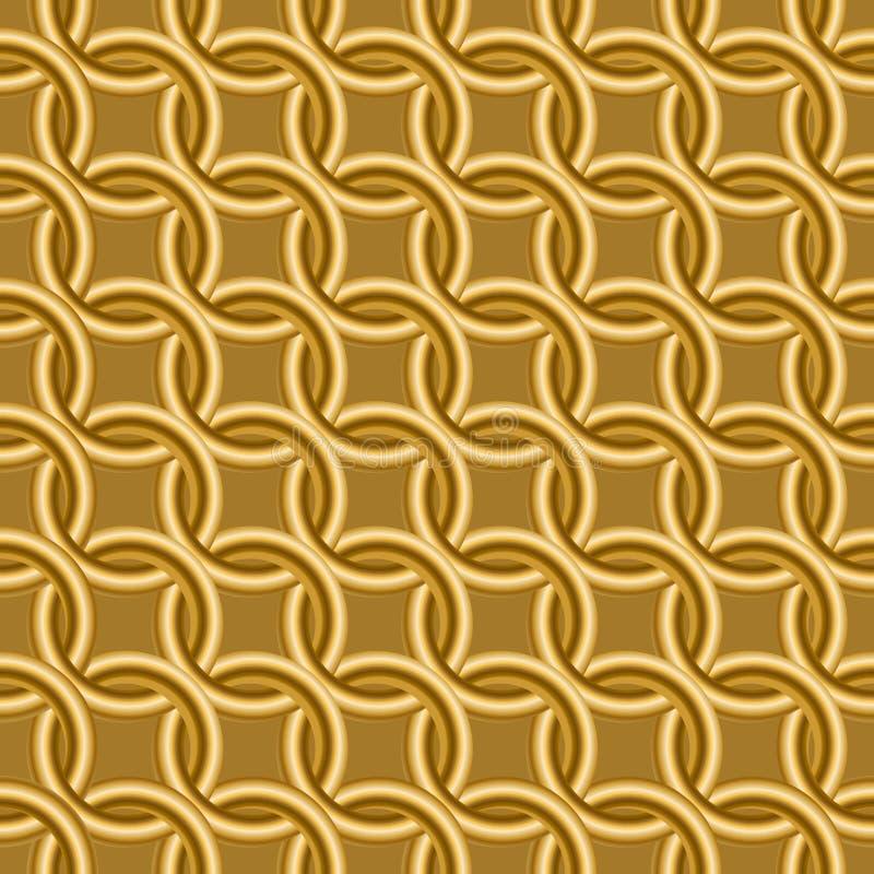 Gouden ringen op een oranje achtergrond stock foto's