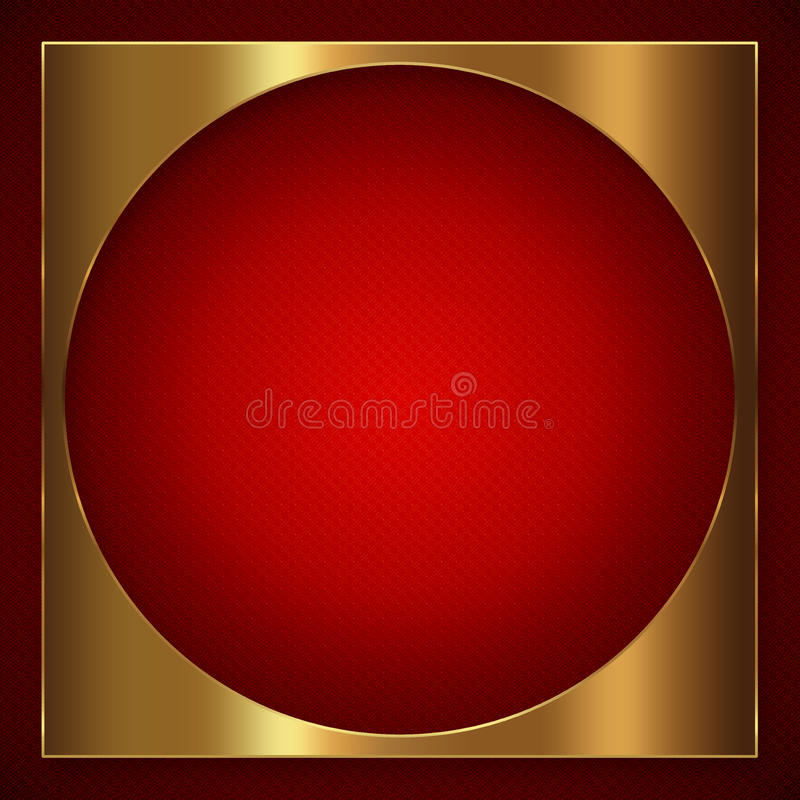 Gouden Rode Abstracte Achtergrond stock foto's