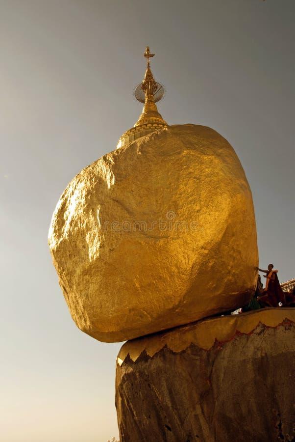 Gouden rots stock afbeeldingen