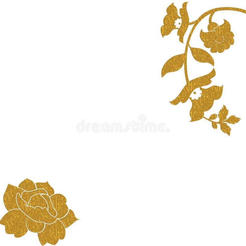 Gouden rozenachtergrond royalty-vrije illustratie