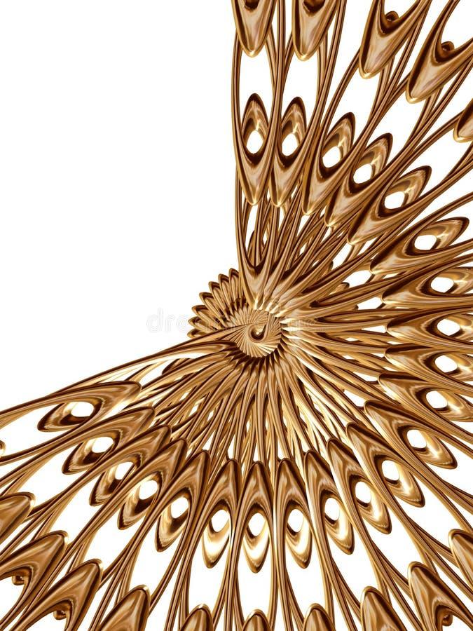 Gouden rozet 4 royalty-vrije illustratie