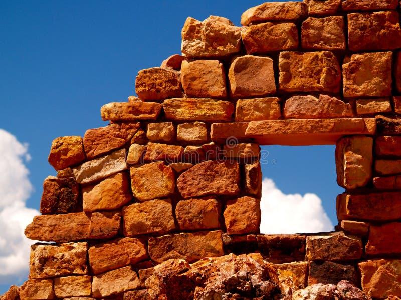 Gouden Ruïnes stock afbeelding