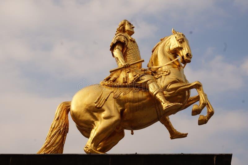 Gouden Ruiters Dresden, Duitsland stock afbeeldingen