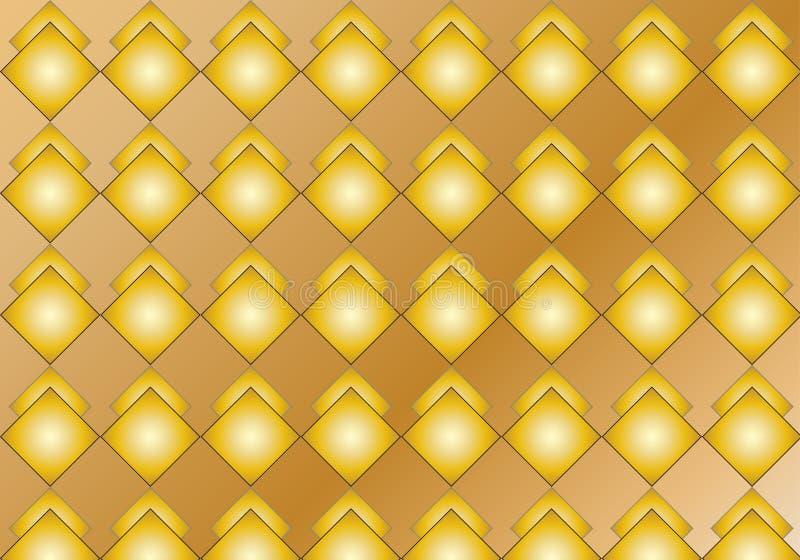 Gouden Ruitpatroon vector illustratie