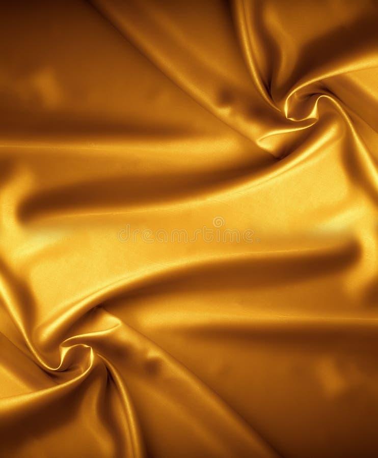Gouden satijntextuur, brokaat royalty-vrije stock fotografie