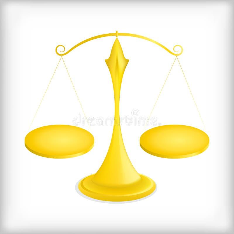 Gouden schalen, saldo - illustratie vector illustratie