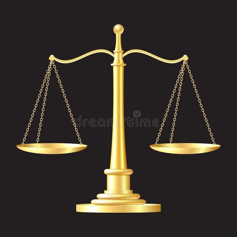 Gouden schalenpictogram royalty-vrije illustratie
