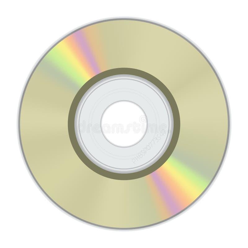 Gouden Schijf MiniCD met regenboogkleur vector illustratie