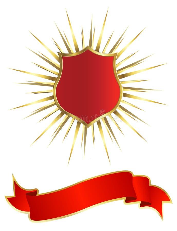 Gouden schild vector illustratie