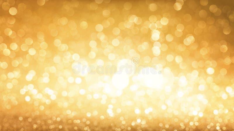 Gouden schitter achtergrond stock afbeeldingen