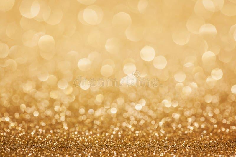 Gouden schitter Kerstmisachtergrond royalty-vrije stock afbeeldingen