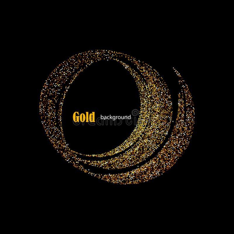 Gouden schitter Sleep met de Achtergrond van Sterren Vector stock illustratie
