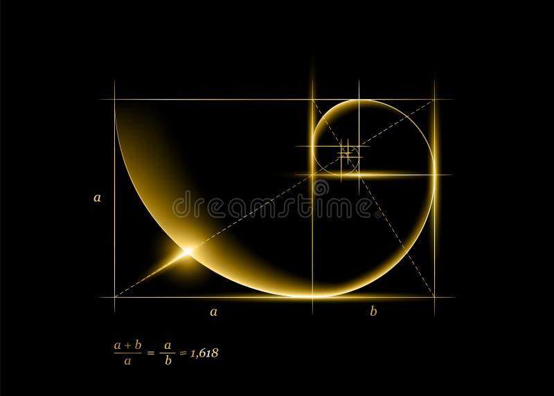 Gouden sectie stock afbeelding